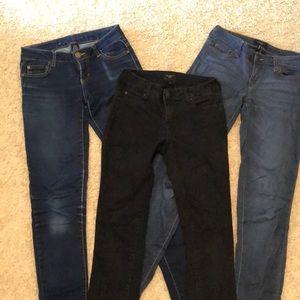 Set of 3 - Celebrity pink skinny jeans
